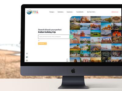 Tourism of India uidesign uiux minimalisticdesign website indiatravel tourisminindia tourism