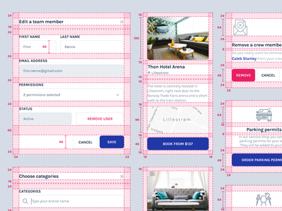 UI Components style guide design system library handoff grid web dashboad cards ui elements components ui components guidelines sales crm visual design ui ux