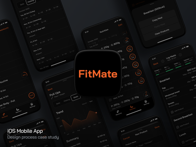 FitMate Case Study case study ios training lifestyle health workout fitness app gym exercise fitness fit visual design mobile app app ux ui