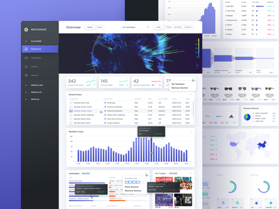 Scans Dashboard visual design ux ui sales summary filters management system dashboard admin panel reports analytics graphs charts