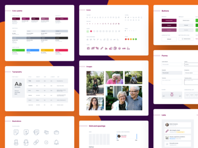 PFC Design System ui elements ux sitemap visual language typography style guide pattern library icons guidelines design system ui components colors palette