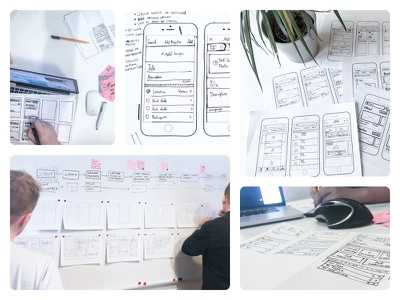 Low Fidelity Wireframes paper pen lo-fi mobile app sketches wireframes user experience user research ux