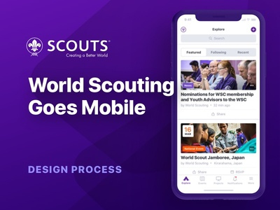 Scouts Mobile App — Design Case Study style guides user flow case study mobile development design system interface design visual design ios mobile app ux ui