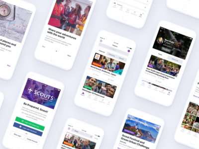 Scouts iOS news details profile details feed ui ux mobile app ios visual design interface design design system case study user flow