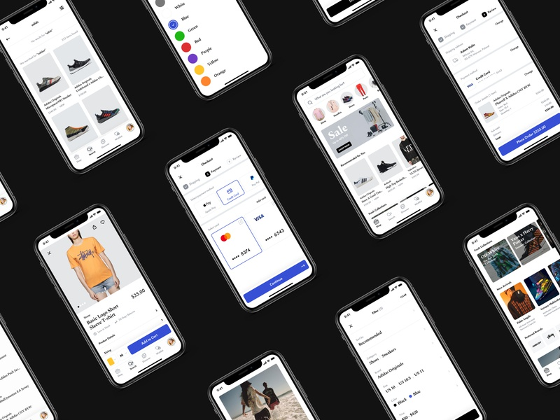 mCommerce Best Practices Showcase figma cart product page shop store mcommerce ecommerce visual design mobile app ios ui ux