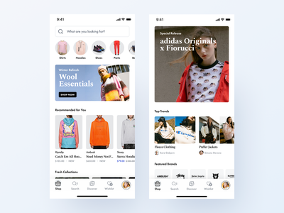 mobile offer offer streetwear clothing fashion mcommerce store shop ecommerce figma visual design mobile app ios ui ux