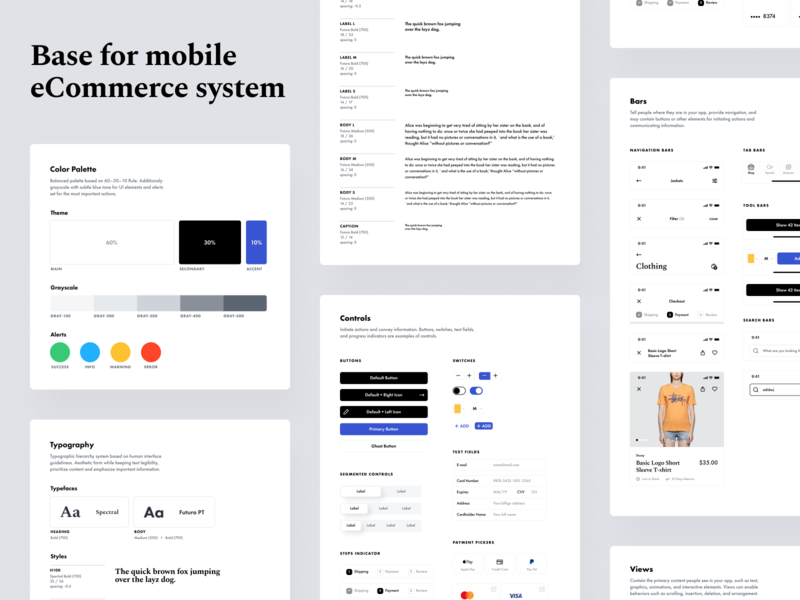 Interface Style Guides ui kit visual language ui components ui elements typography designsystem styleguide style guide style guides pattern library library guidelines guide design system components color palette