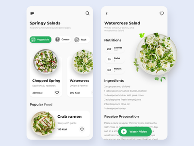 Recipe app food app food app ui recipe app recipes flatdesign mobile app mobile design