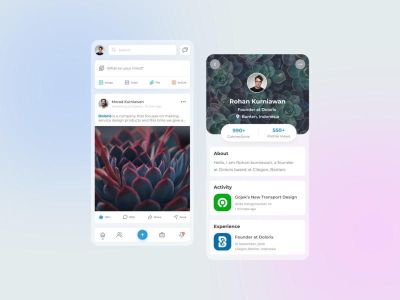 Linkedin Mobile App linkedin flatdesign mobile design mobile app