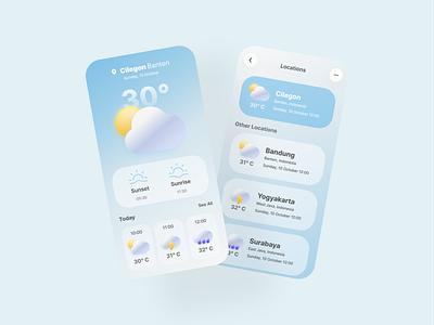 Weather App weather minimalist clean app ux flatdesign design ui mobile ui mobile design mobile app