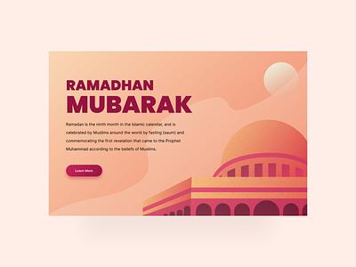 Ramadhan Web App branding minimalist clean app design ux ui illustration flatdesign mosque muslim ramadhan web app