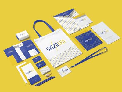 Ginzaled Logo & Branding Identity Design