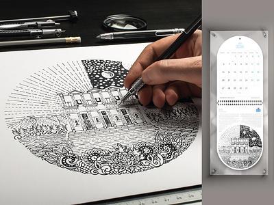 Dünya miras listesinde İZMİR ve turizm illüstrasyonları painting art drawing 2020 calendar design illustrator illustration celcus izmir
