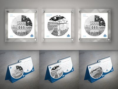 Dünya miras listesinde İZMİR ve turizm illüstrasyonları design turkey izmir painting drawing illustration 2020 calendar
