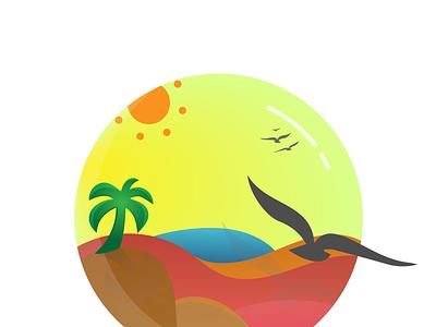 Sunny Beach logo design illustrations design logo illustration