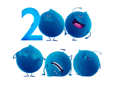 Blue Brothers bank cartoon characters bubble blue