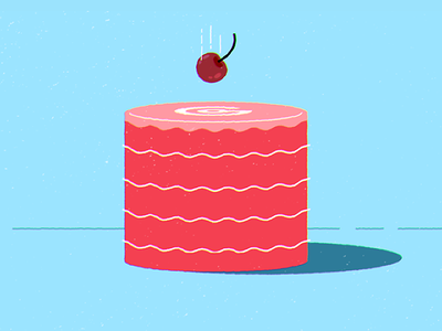 Flat Cake blue red video explainer flat cake