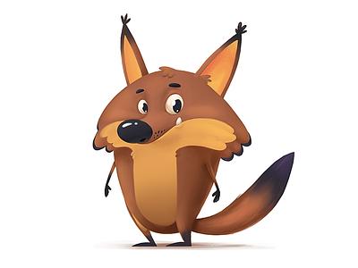 Fox Character cute brown concept character cartoon fox