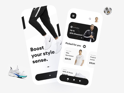 eCommerce Store App Design simplistic trendy design trendy shopping cart adidas nike shoes minimalist minimal shopping shopping app ecommerce design ecommerce shop ecommerce app ecommerce inspiration ios app app design uiux ui design uidesign