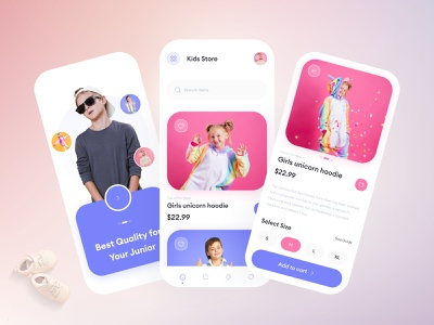 Kids - eCommerce Store App ux design uiux online store shopping kids fashion app fashion ecommerce design ecommerce shop ecommerce app ecommerce ui app ui  ux design minimalist ios app app design ui design uidesign