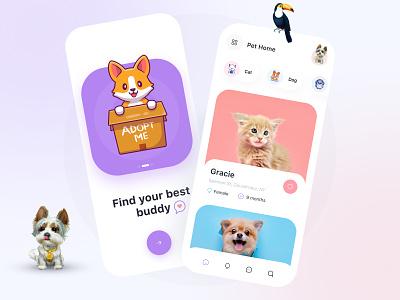 Pet Adoption App figma design ios minimalistic minimalism minimal adoption adopt pet adoption app pets pet care petshop minimalist ui ios app inspiration ui design app design uiux uidesign
