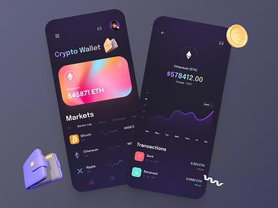 Crypto wallet app 🤑 simple minimal uxdesign uxui ui  ux aplication crypto app app ethereum bitcoin crypto exchange crypto currency cryptocurrency crypto wallet crypto ios app ui uiux ui design uidesign