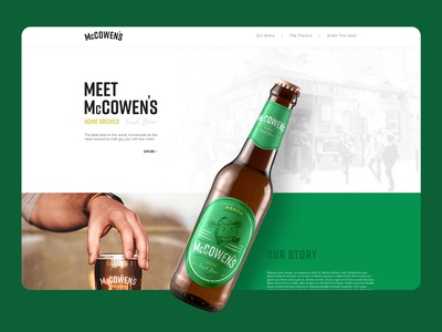 McCowen's Beer - website