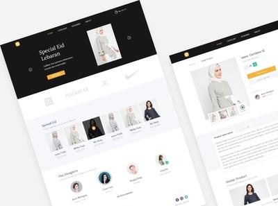 Fashion Store Special Eid fashion web fashion design fashion landing page design landing page ui design ui store bwa