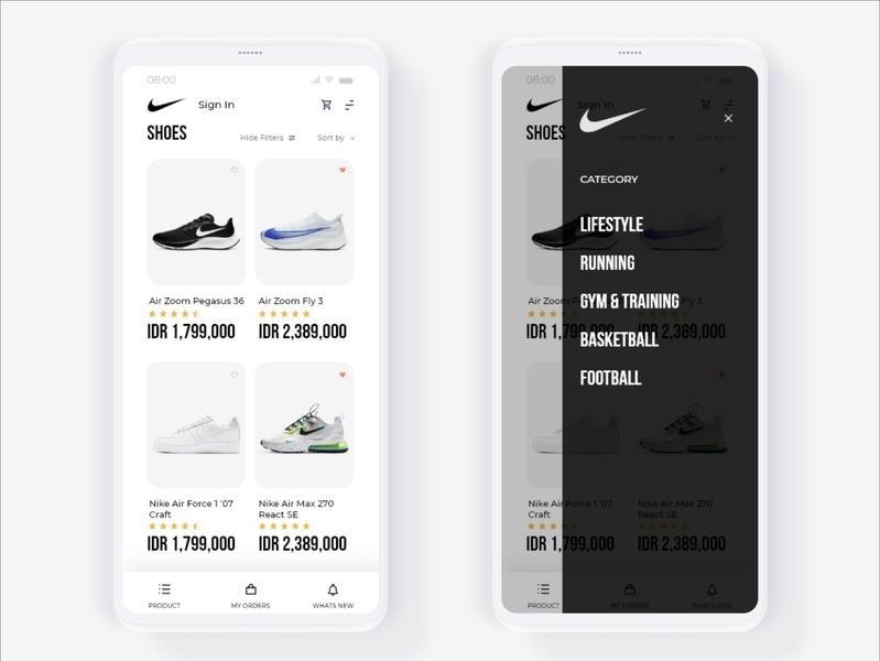 App Store UI minimalist simple design simple nike running nike air nike air max nike shoes shoes application nike blackandwhite training uidesign uiux ui app design store app