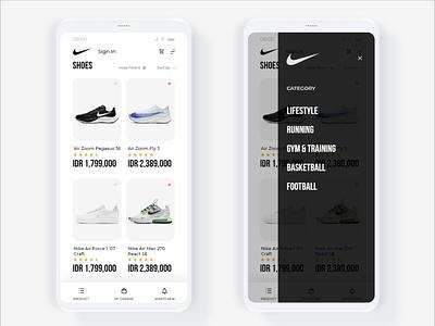 App Store UI minimalist simple design simple nike running nike air nike air max nike shoes shoes application nike blackandwhite training uidesign uiux ui app design store app