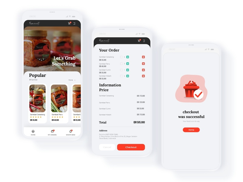 Apps Store Kapincut uidesign order red food user interface design appstore apps uiuxdesign design ui design uiux ui simple design