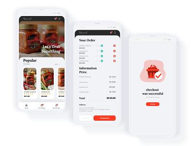 Apps Store Kapincut uidesign order red food user interface design appstore apps uiuxdesign design ui design uiux ui simple design