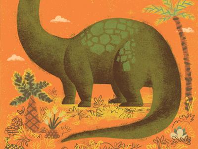 Brock-iosaurus palm tree dino brachiosaurus dinosaur