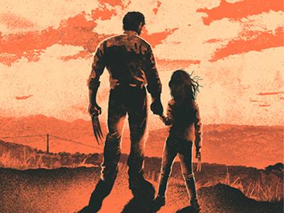 Logan Illustrated Movie Poster hugh jackman poster film poster film retro minimal movie poster x-23 x23 wolverine logan illustration