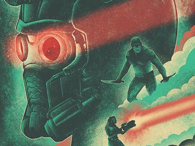 Guardians of the Galaxy Vol. 2 Illustrated Poster guardiansofthegalaxy comics comic marvel rocket groot gamora starlord drax guardians