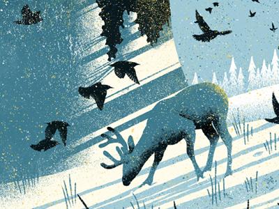 New Winter Print illustration screenprint howdy mates