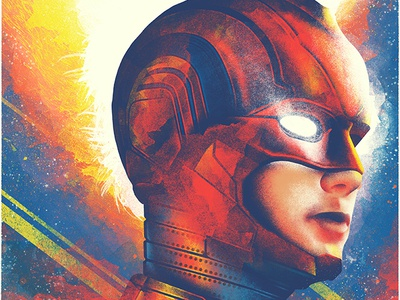 Captain Marvel illustrated poster movie poster avengers marvel brie larson illustration amp poster art theatre poster film poster comic book art comic book comic comic books captain marvel