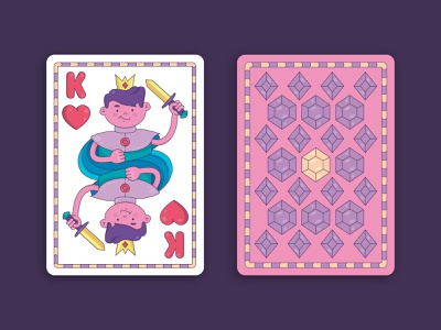 Sweet King Card character candy design card illustration