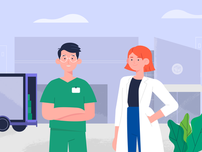 Medicxs animation explainer video vector colorful illustration