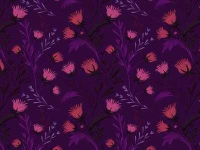 pattern cardos botanical floral pattern illustration