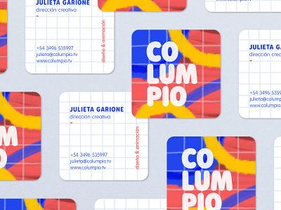 Columpio card illustration logo branding