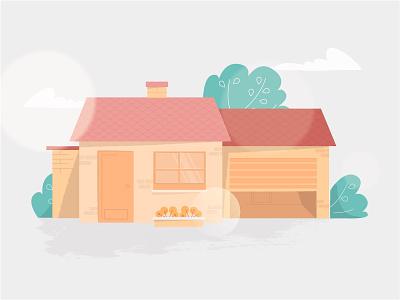House design vector brush animation illustration explainer video