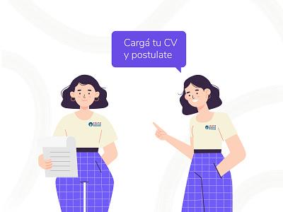 Personajes Portal GSS vector illustration