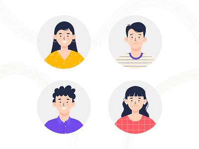 Personajes Portal Sancor character design video explainer illustration