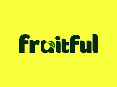 Fruitful fruitful fruit logodesign branding typography logo