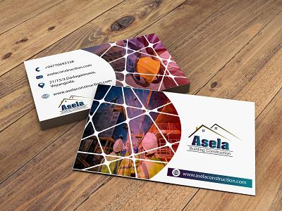 Asela construction minimal custom logodesign fiverr adobephotoshop adobeillustator businesscarddesign business cards business card logo branding design illustration