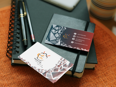 Cake design minimal logodesign fiverr illustration business cards businesscarddesign business card adobephotoshop adobeillustator