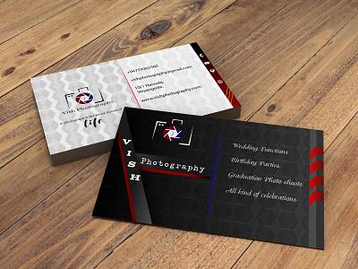 Vish photography custom design minimal illustration fiverr business cards business card businesscarddesign adobephotoshop adobeillustator