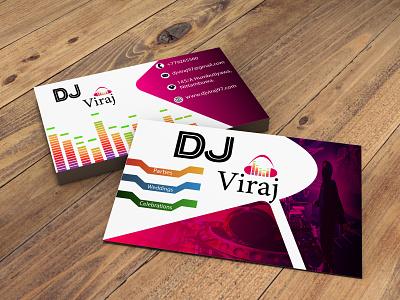 DJ Card minimal logo illustration fiverr design business cards businesscarddesign business card adobephotoshop adobeillustator