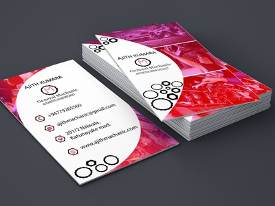 Machanic custom illustration minimal fiverr design business cards businesscarddesign business card adobephotoshop adobeillustator
